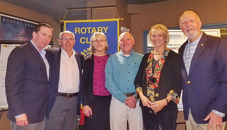 Rotary Club of Marblehead Harbor members who made Marblehead Scholarship Fundraising Dinner happen