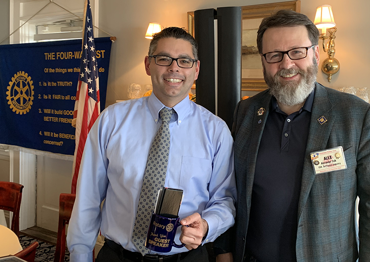 ff5226907d Marblehead Rotary club is pleased to welcome Jason Silva as its newest  member. Silva