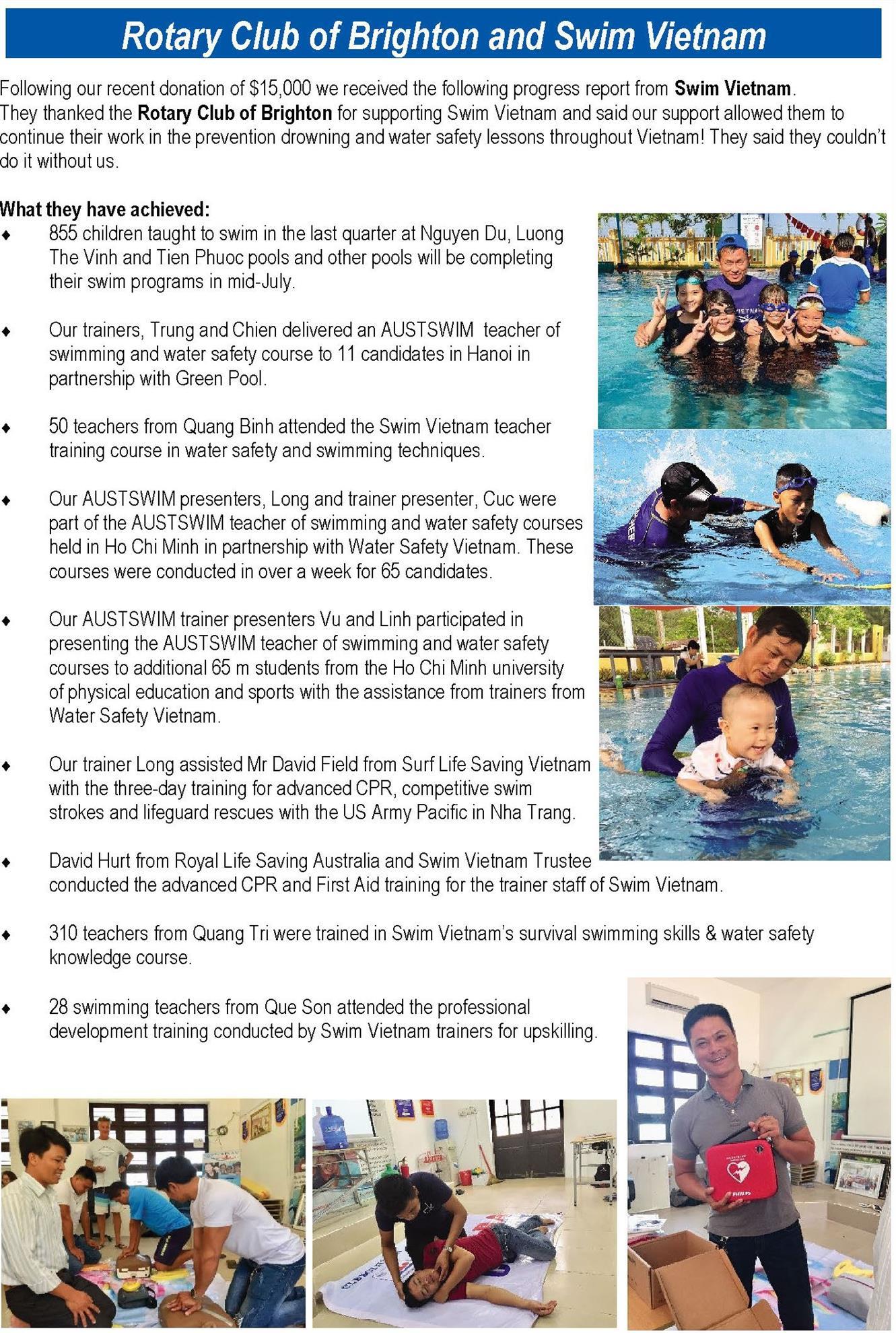 RC Brighton Swim Vietnam | District 9800