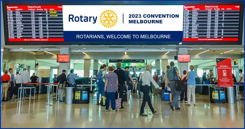 Melbourne Airport welcome to Rotarians