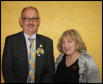 District Governor Stephen Britten and his wife Jane