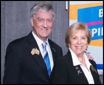 District Governor Sue Hayward and Mike