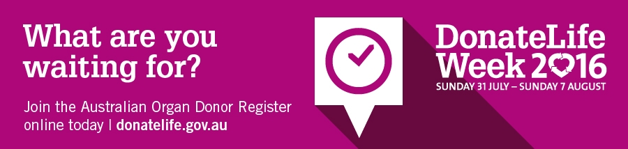 Donate Life - register for organ donation with the Government website