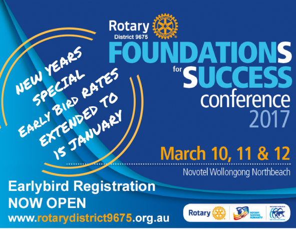 District 9675 Conference theme and early bird registration