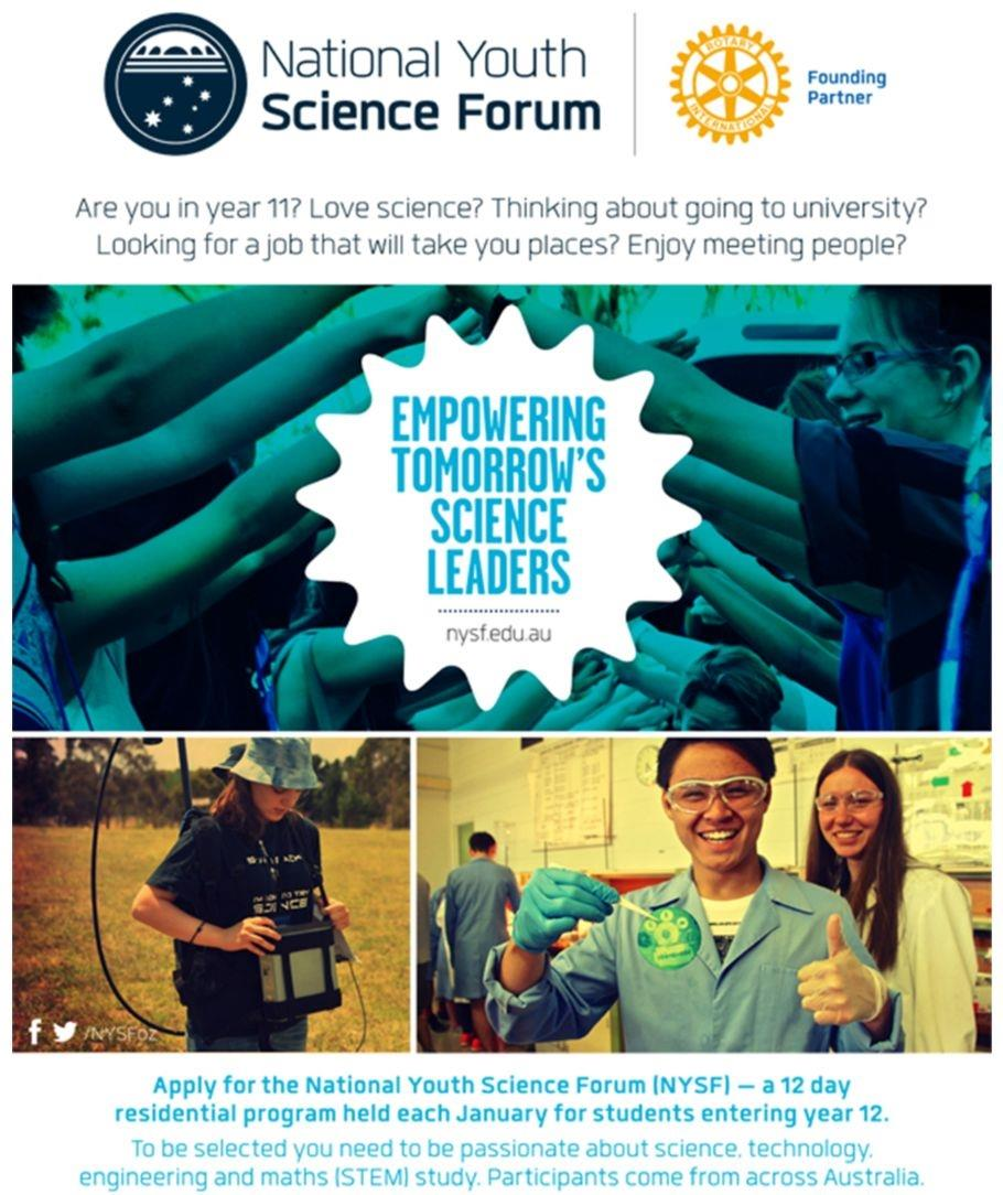National Youth Science Forum promotion