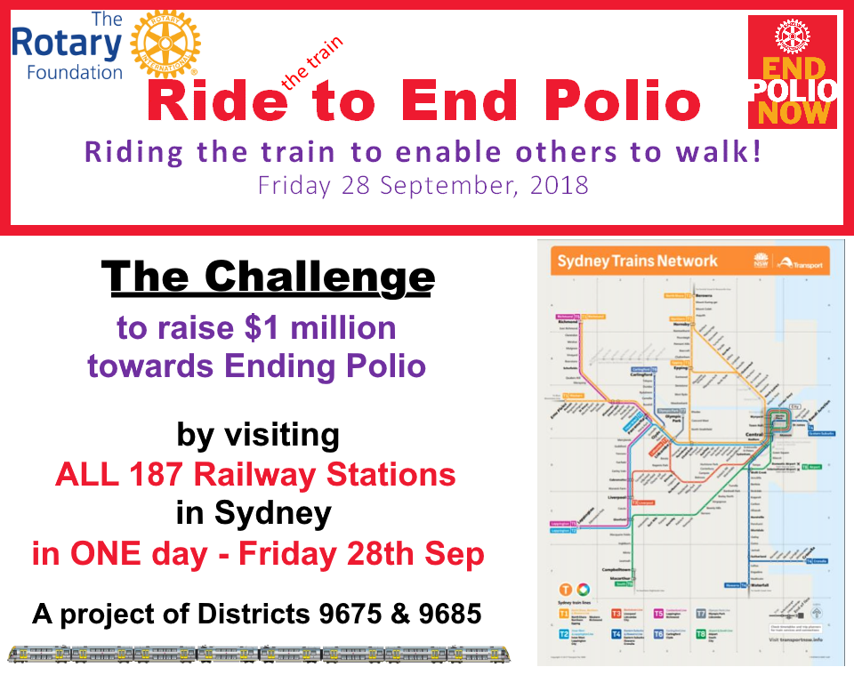 All Stations project to raise funds for End Polio Now