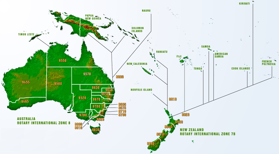 Map of Australian, New Zealand, and Pacific region