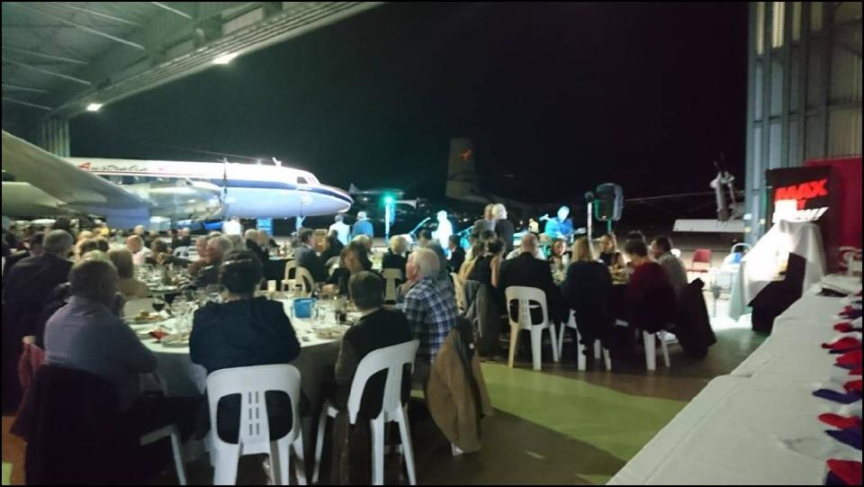 Dinner in the hangar