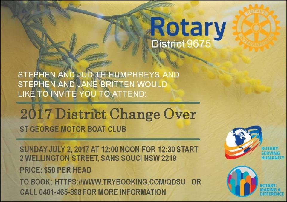 Change over invitation