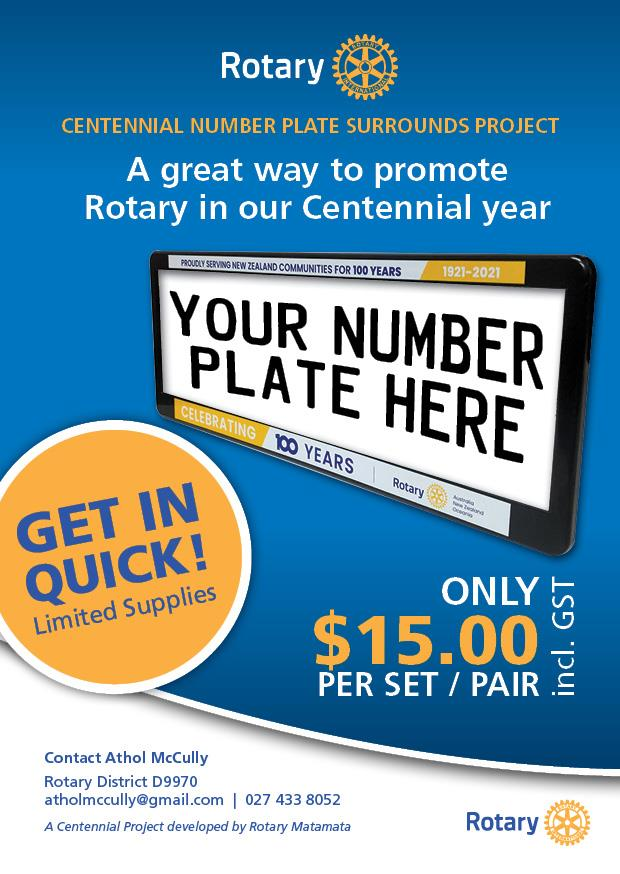 Centennial Number Plate Surrounds