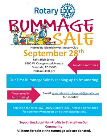Glendale West Rotary to Hold Rummage Sale | District 5495