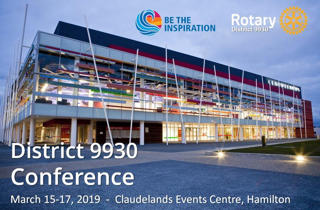 Rotary District 9930 2019 Conference registrations  | Rotary