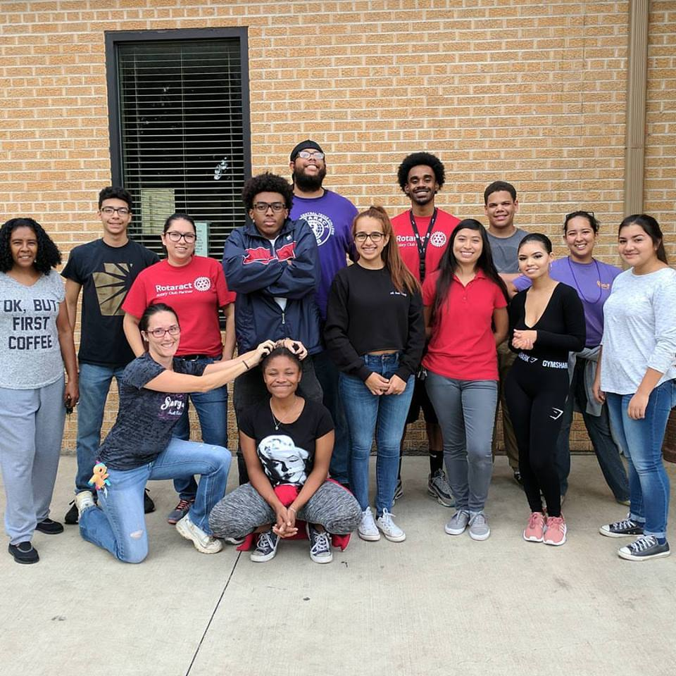 The Central Texas College Rotaract Club making a difference by spending the  day helping at the Friends in Crisis homeless shelter.
