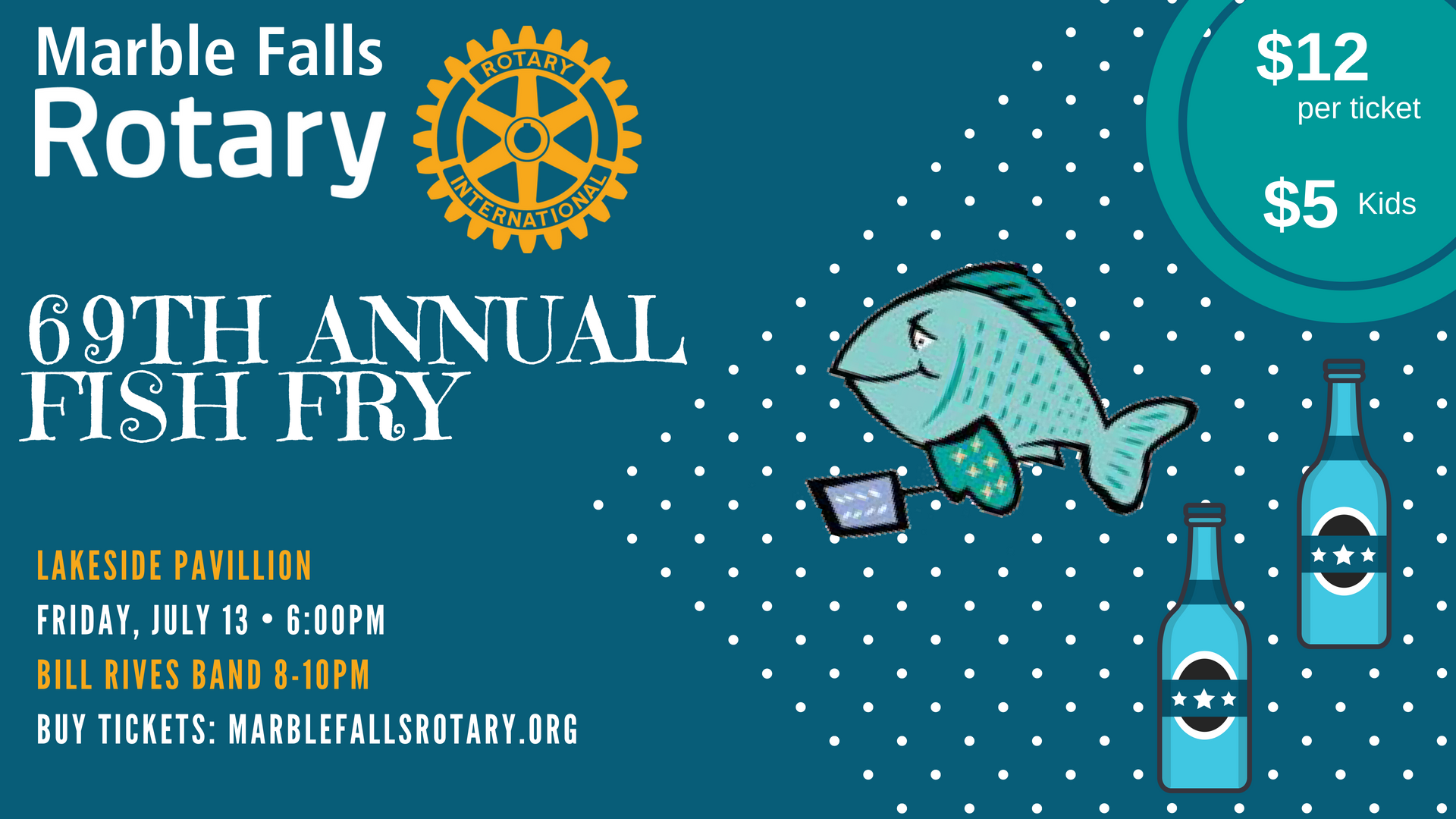 san francisco 465cb f6ba5 You re invited to the 69th Annual Marble Falls Fish Fry on Friday, July  13th at the Lakeside Pavilion! This event is open to all Rotarians and  their ...