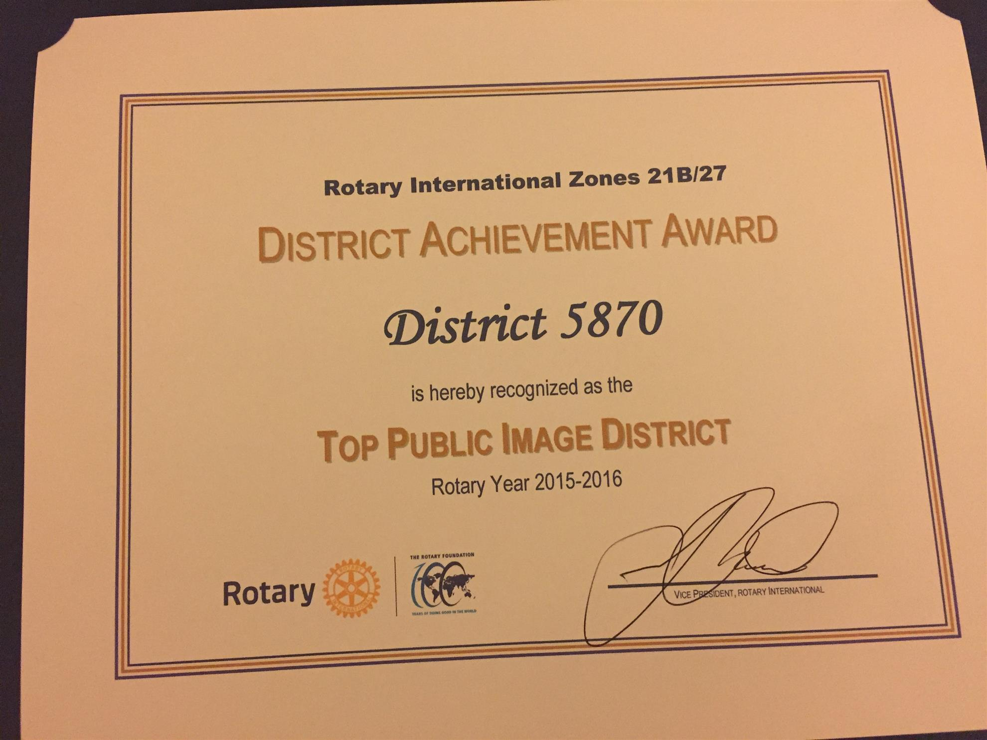 District PR Team Wins Top Honor | Rotary District 5870