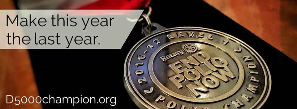 Polio Champion Medal