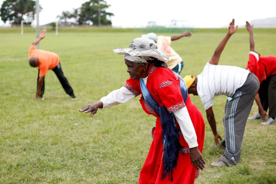 As 90-year-old Thumekile Mthiyane proves, you're never too old to learn or try new things. Reuters/Rogan Ward