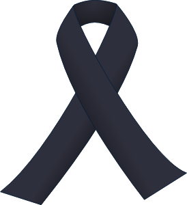 Black Awareness Ribbon for Skin Cancer