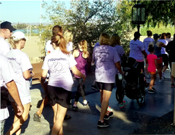 Walkers at the 1st Annual YOUmatter; Walk