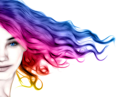 Woman with colorful hair - Hair Fashion Show Logo