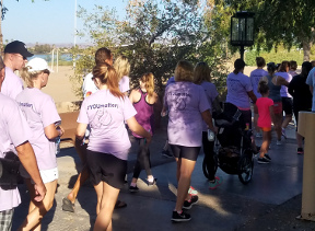 Walkers at the Inaugural Suicide Awareness & Prevention Walk