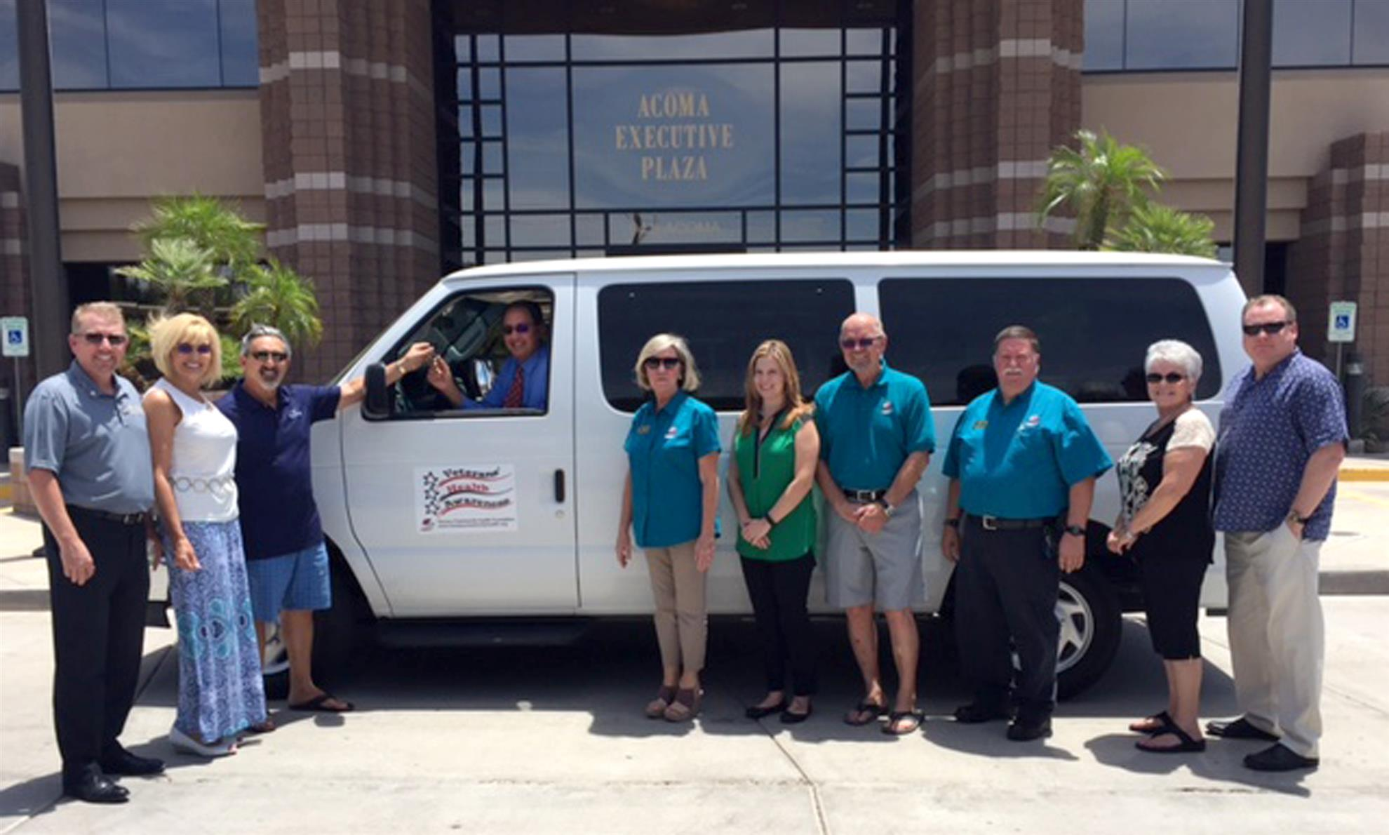 HCHF Veterans' Health Awareness donates van to Vet Court