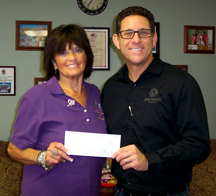 Tony Rivello, One Touch Medical and Evie Cistaro, Cancer Association of Havasu