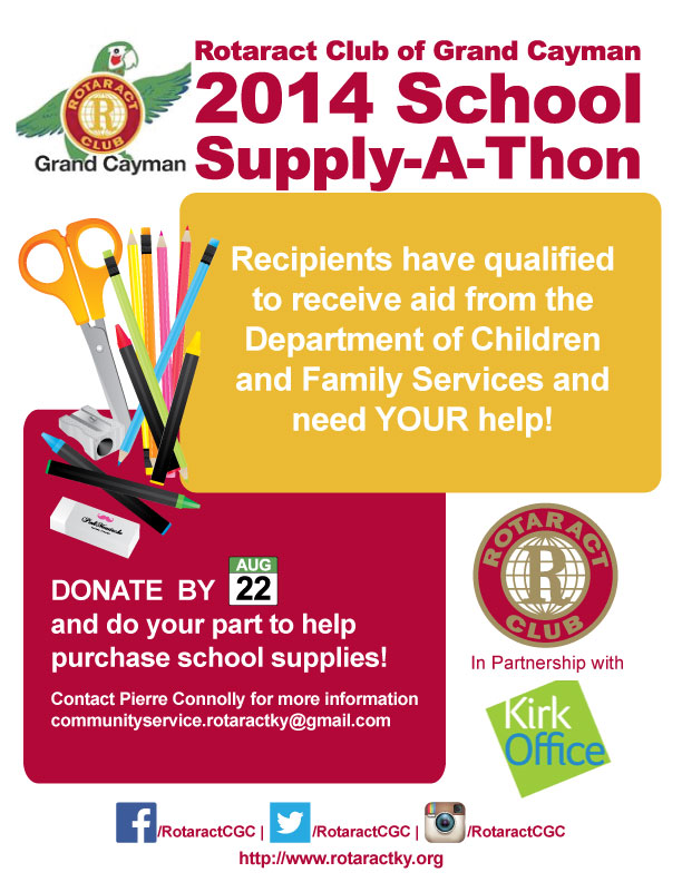 2014 School Supply-A-Thon Flyer