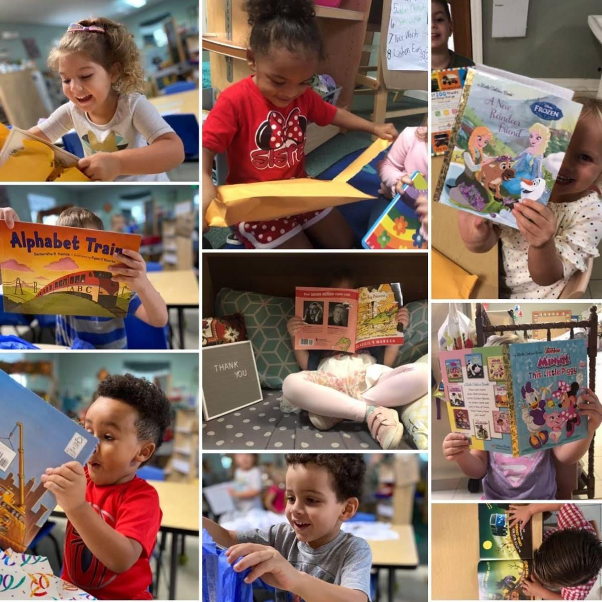 Kids Reading the Books from the Early Learning Coalition