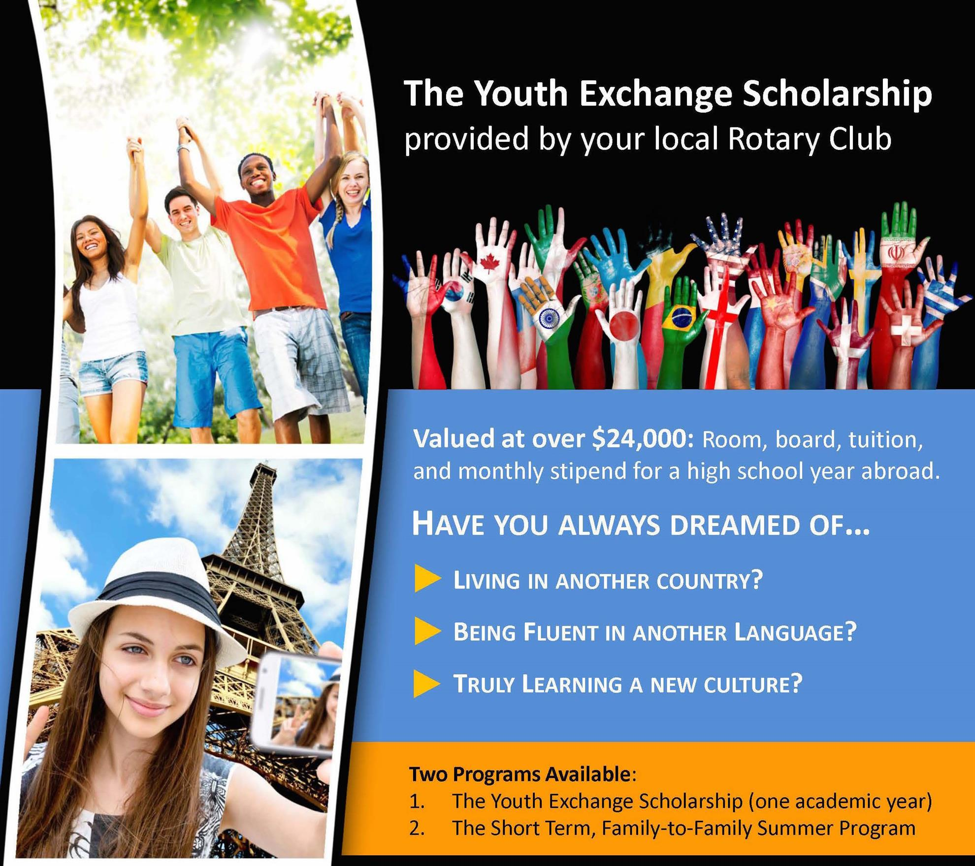 Youth Exchange Scholarship | Rotary Youth Exchange Committee