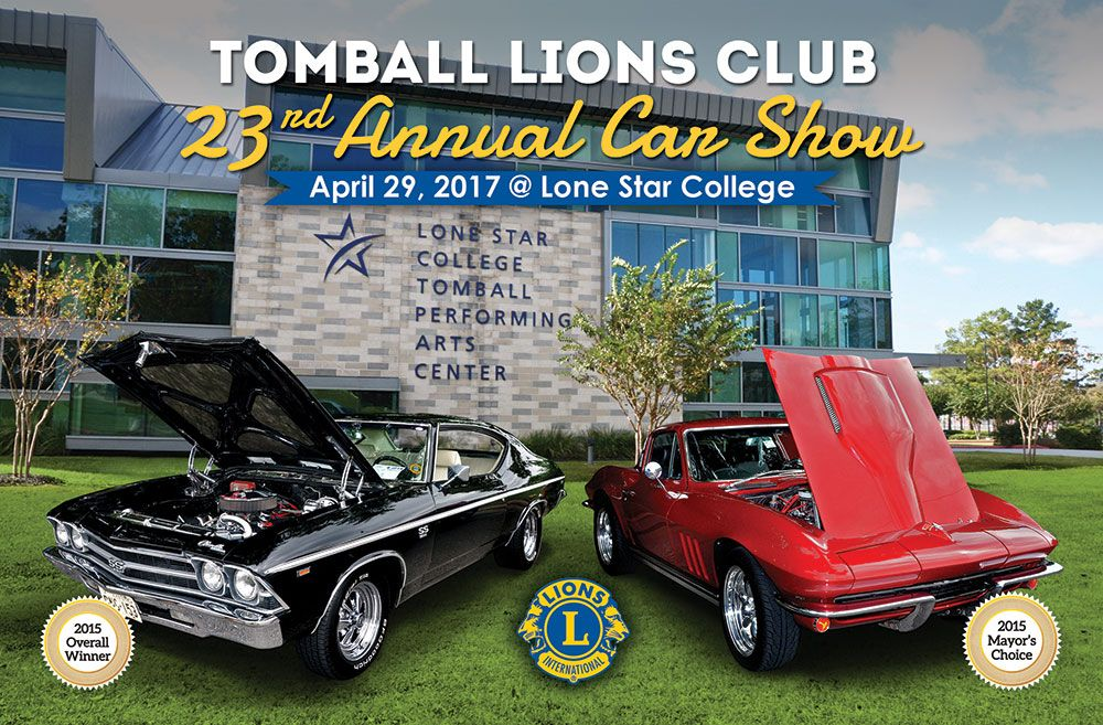 2017 car show flyer tomball lions club. Black Bedroom Furniture Sets. Home Design Ideas