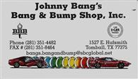 Johnny Bang's Bang and Bump Shop, Inc.