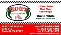 Ron's Hamburgers & Chili