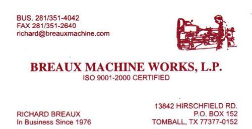 Breaux Machine Works, L.P.