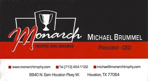 Monarch Trophy and Awards