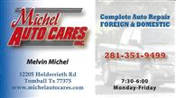 Michel Auto Cares, Inc.