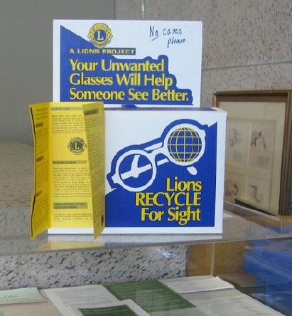 Lions Recycle For Sight Donation Box
