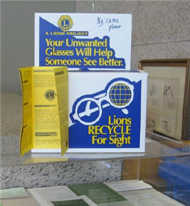 Recycled for Sight Donation Boxes | Lions Club of Denver