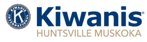 Kiwanis Huntsville Muskoka logo