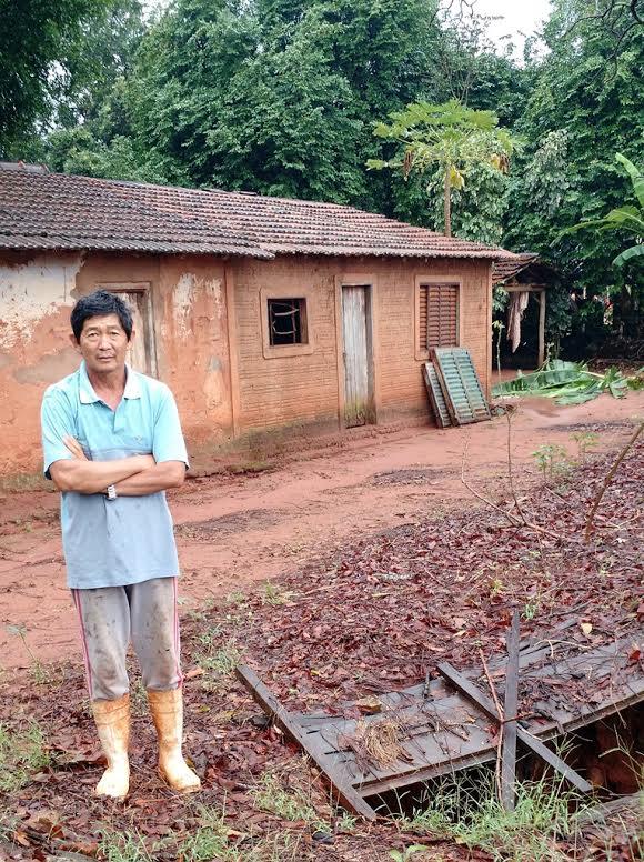 Rural sewage Before