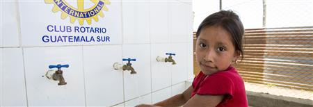 WASRAG in action!  Rotary clubs build new wash facilities