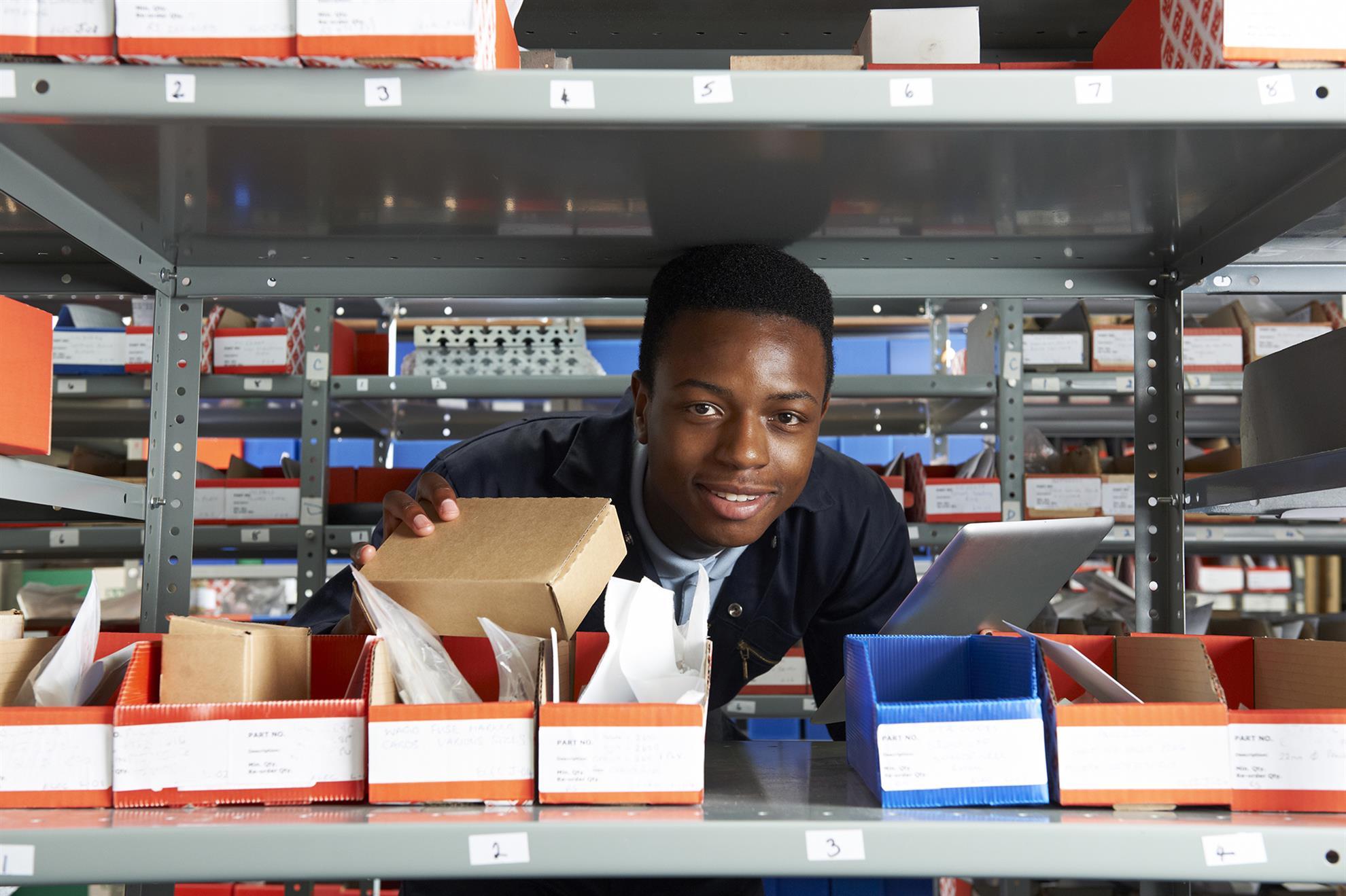 Teen Stocking Shelf at Job