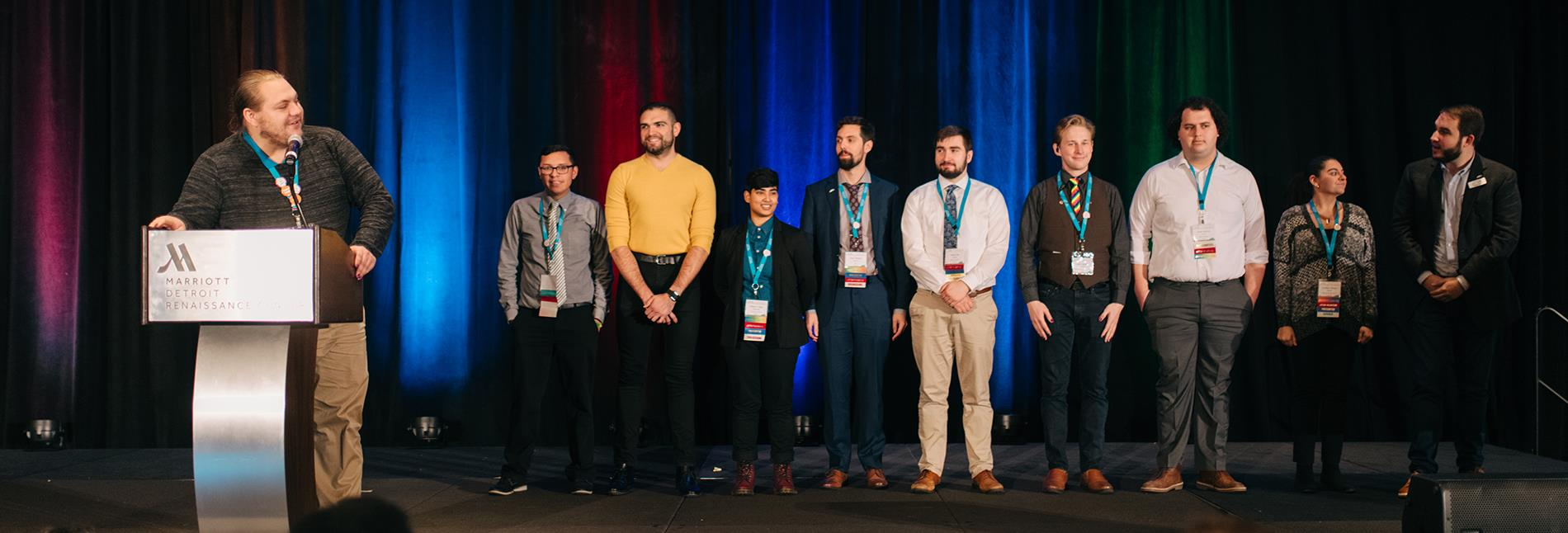 Conference Team on Stage oSTEM 2019