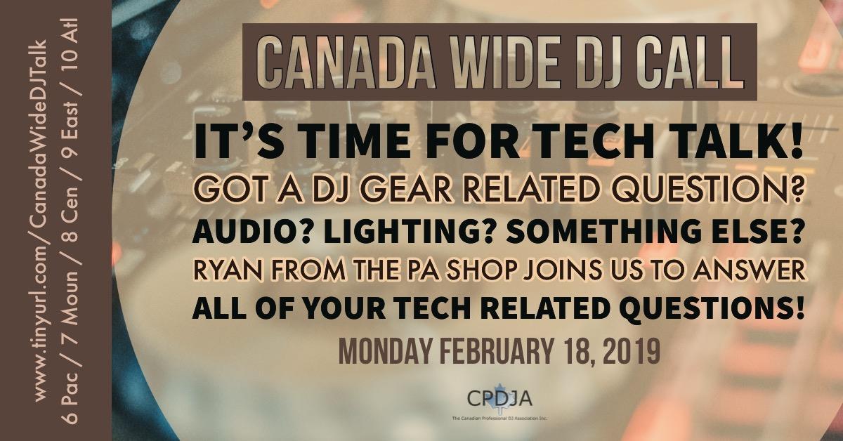 February Canada Wide DJ Call