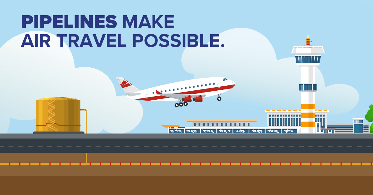 Pipelines Make Air Travel Possible