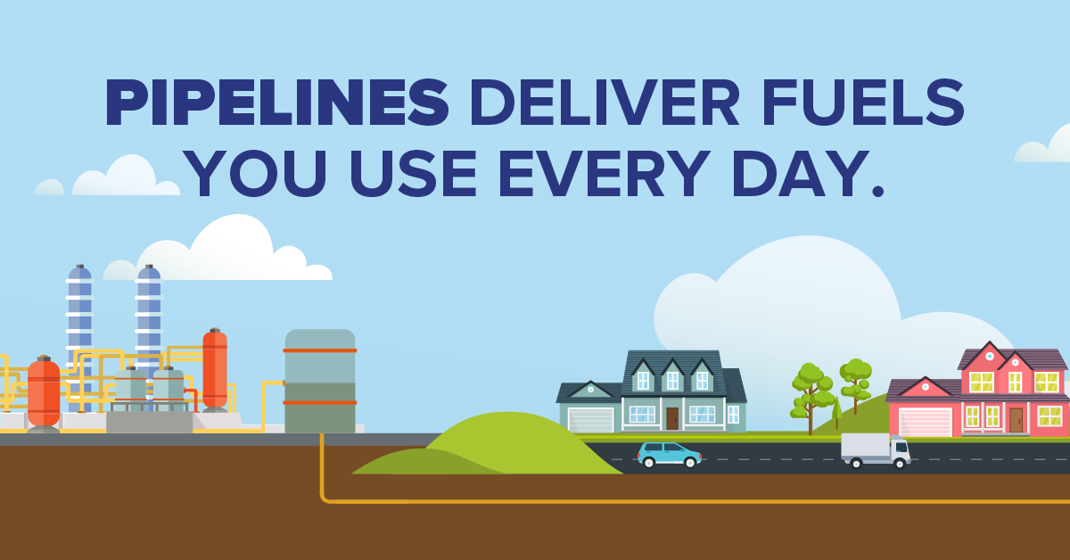 Pipelines Deliver Fuels You Use Every Day