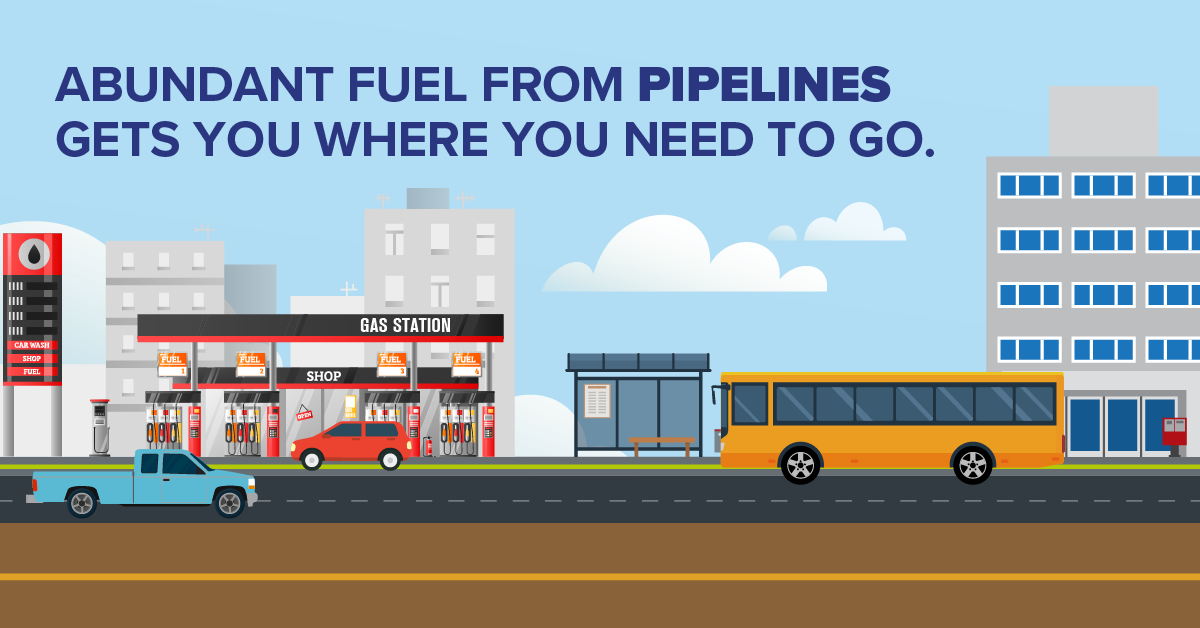 Abundant Fuel From Pipelines Gets You Where You Need to Go