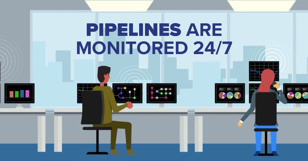 Pipelines Are Monitored 24/7