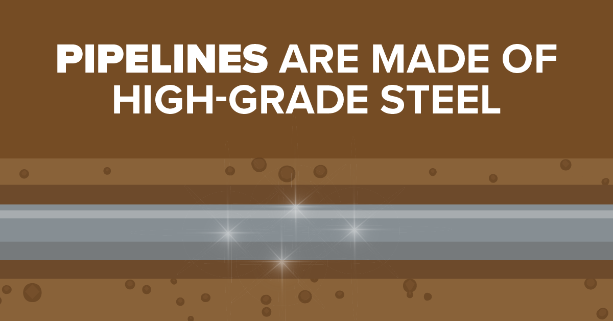 Pipelines Are Made of High-Grade Steel