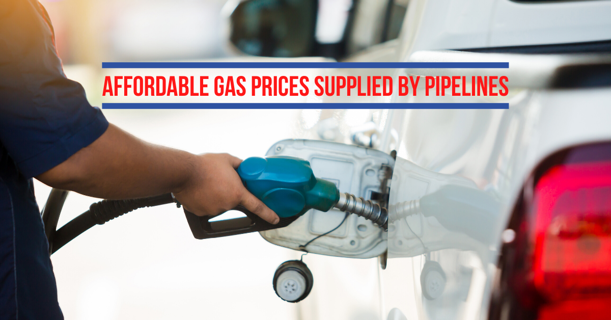 Affordable Gas Prices Supplied By Pipelines
